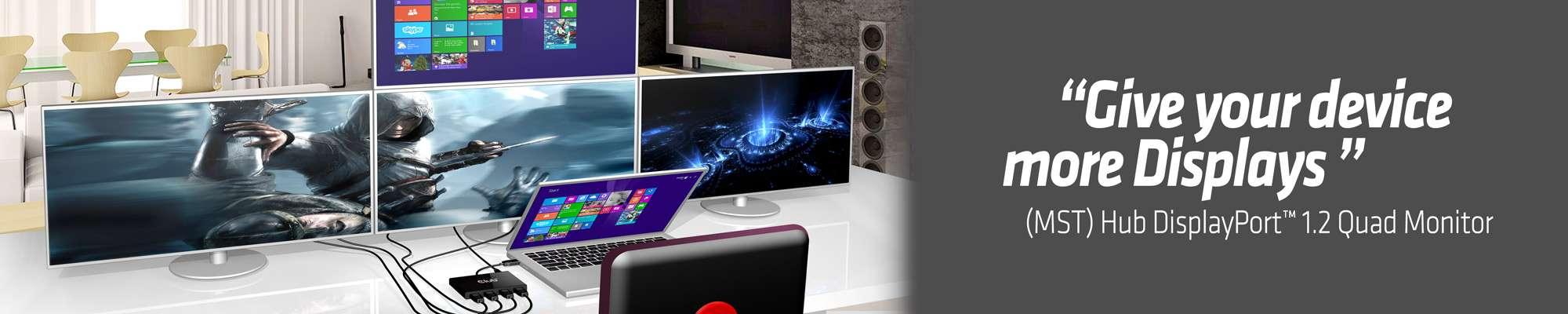 Club 3D | Multi Stream Transport (MST) Hub DisplayPort™ 1 2