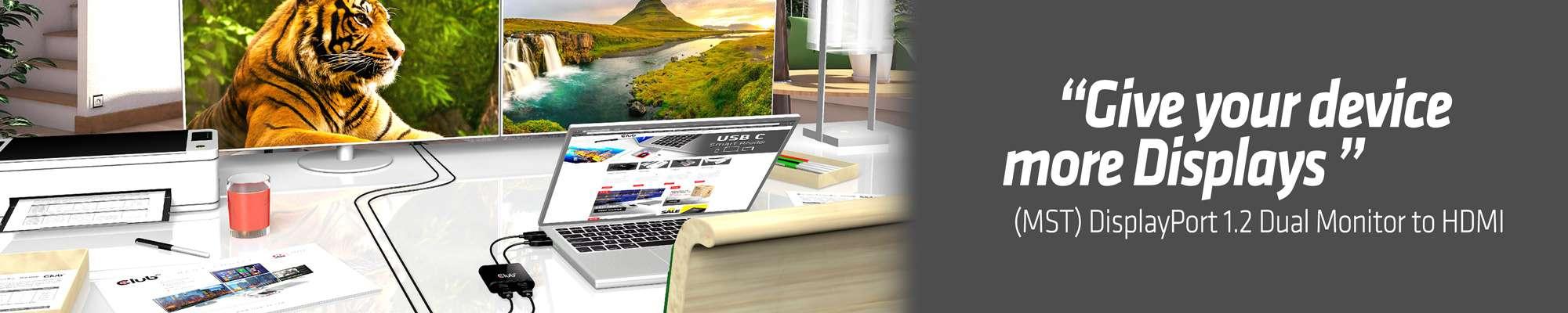 Club 3D | Multi Stream Transport Hub DisplayPort 1 2 Dual