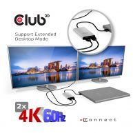 Club 3d Sensevision Thunderbolt 3 To Dual Displayport