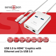 USB 3.0 to HDMI™ Graphics with Ethernet and 2x USB 3.0