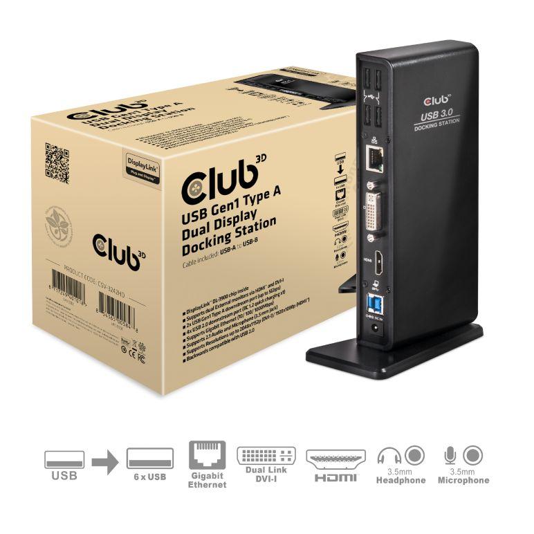Club 3d Usb 3 0 Dual Display Docking Station