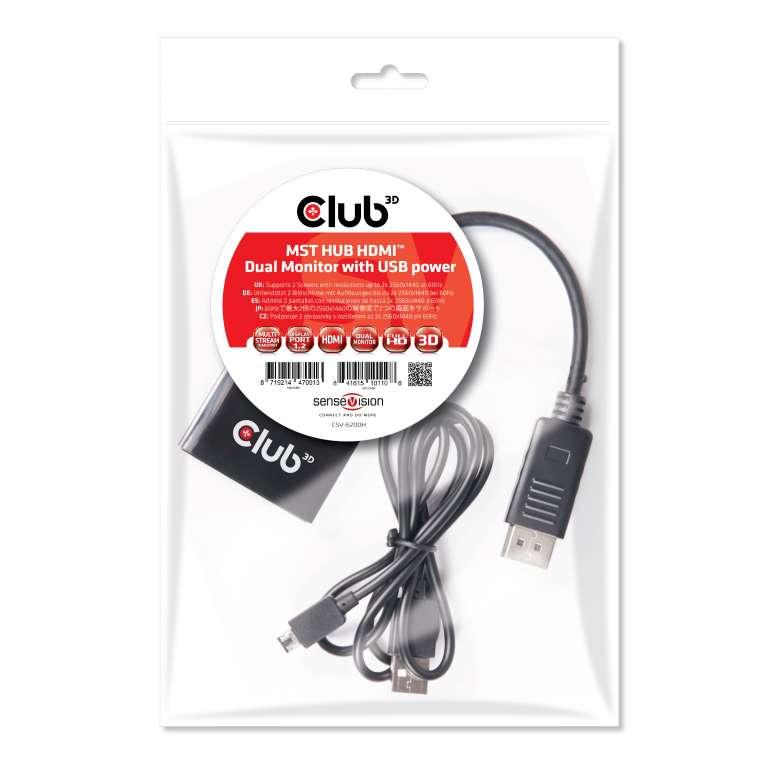 club 3d multi stream transport hub displayport 1 2 dual monitor to Dual Monitor HDMI-Adapter multi stream transport hub displayport 1 2 dual monitor to hdmi