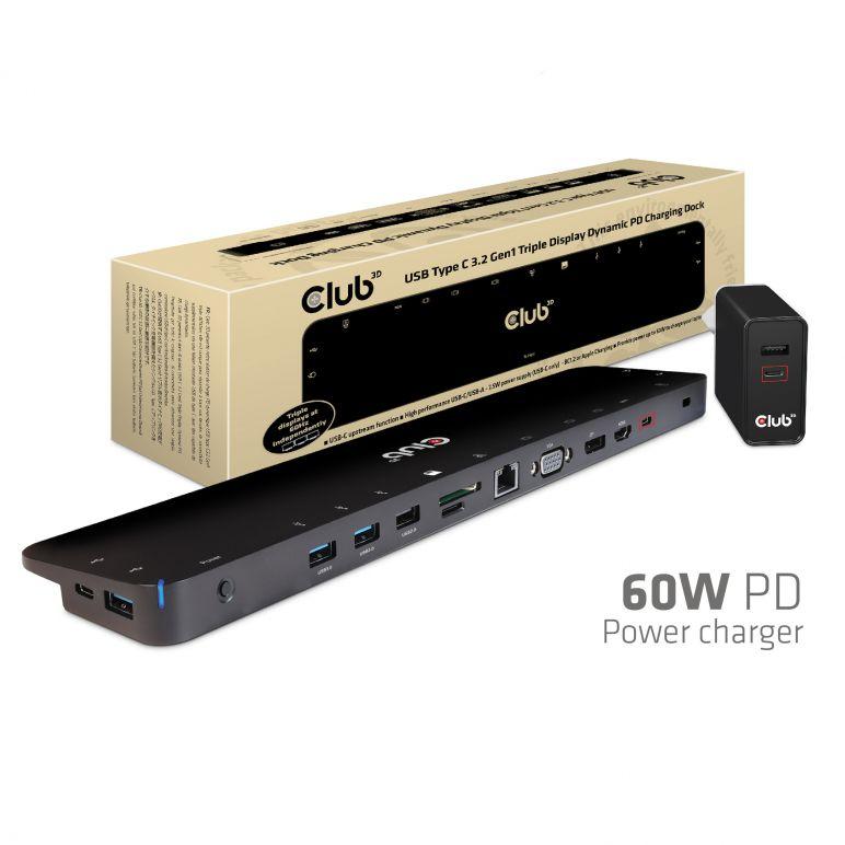 Club 3d Usb Type C 3 2 Gen1 Triple Display Dynamic Pd